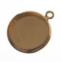 Anhänger/Fassung für Cabochons, rund 12 mm, goldfarben