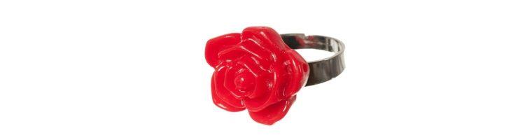 """Ring """"Kleine Rote Rose"""""""