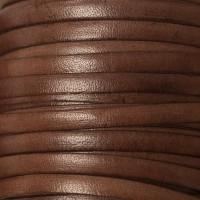 Breites Lederband, 5 mm x 1 mm, Länge 1 m, dunkelbraun