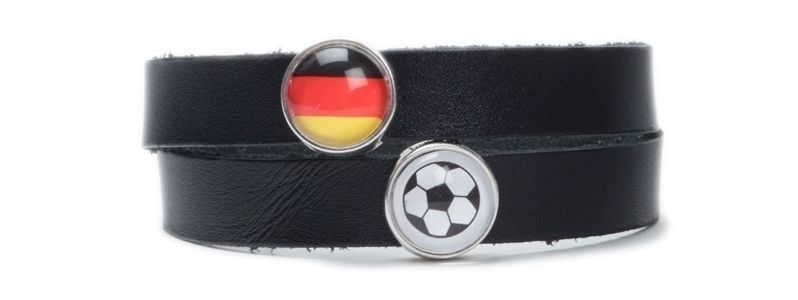 Schwarz-Rot-Gold Fußballarmband