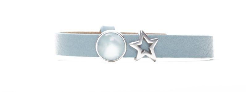 Armband Blue Bell mit Slidern und Polariscabochons einfach