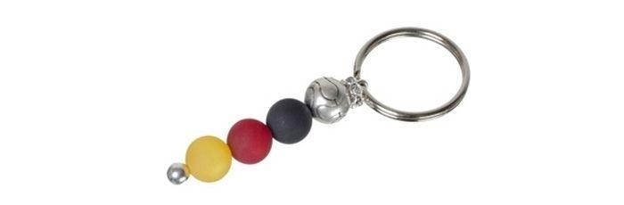 Schlüsselanhänger mit Fußballperlen
