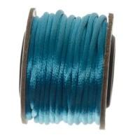 Makramee-Band, Durchmesser 2 mm, 10 Meter-Rolle, hellblau