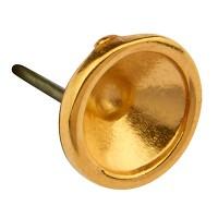 Ohrstecker mit Fassung für Swarovski Steine SS29 mit Titanstecker, vergoldet