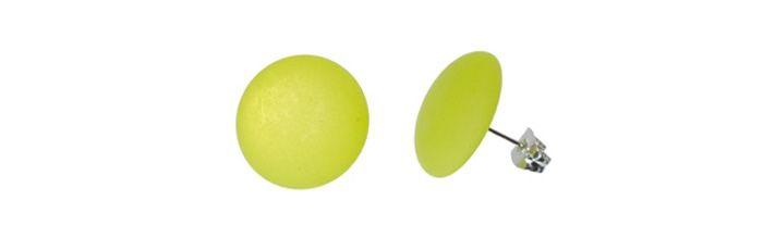 Ohrstecker Hellgrün klein