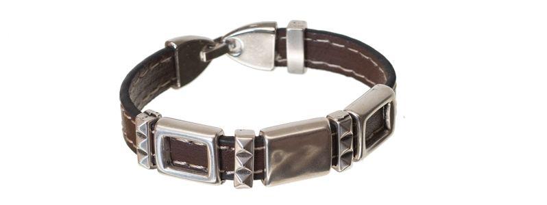 Lederlook Armband Rechteck