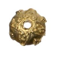 Metallperle Perlkappe, ca. 10 mm, vergoldet