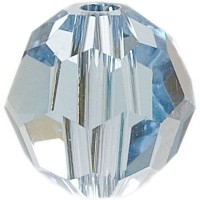 Swarovski Elements, rund, 6 mm, aquamarine