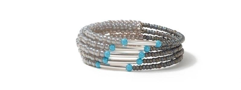Memory Wire Armband Türkiblau