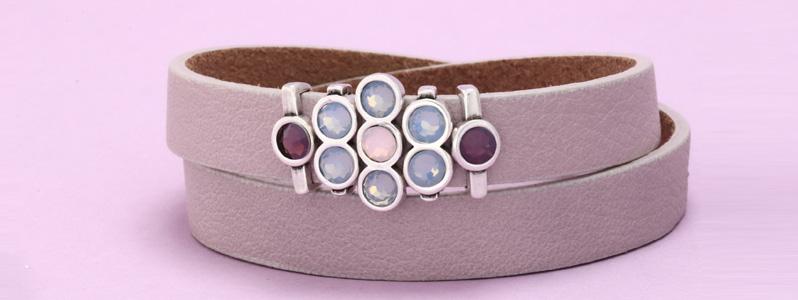 Armband mit Slidern und Preciosa Flat Backs