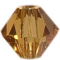 Swarovski Elements Bicone, 4 mm, topaz