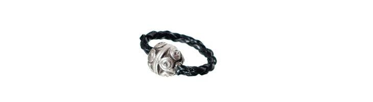 """Ring """"Silber-Kugel"""""""