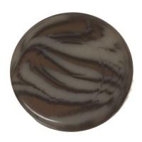 Polaris Cabochon Animalprint Zebra, rund, flach, 12 mm, dunkelgrau-schwarz
