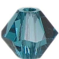 Swarovski Elements Bicone, 4 mm, blue zircon