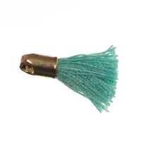 Quaste/Troddel, 18 mm, Baumwollgarn mit Endkappe (goldfarben), veraman