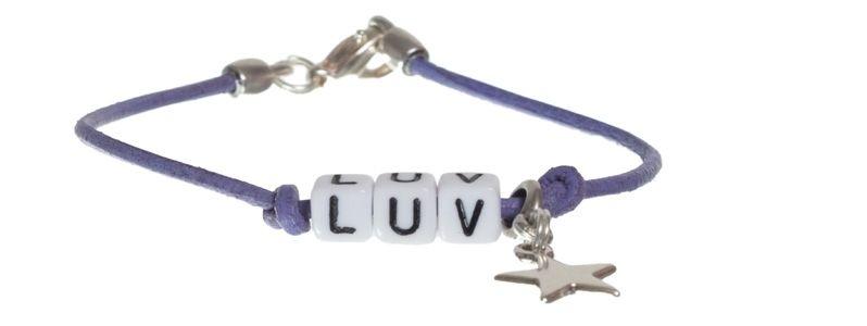 Buchstabenarmband Luv
