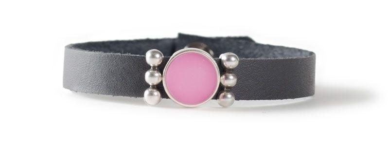 Leder-Armband mit Sliderperlen einfach Rose
