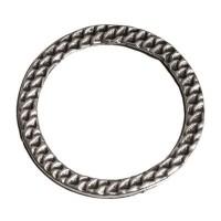 Metallelement, rund, 19 mm, versilbert
