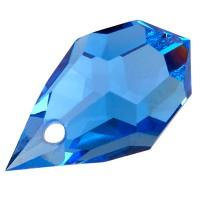 Preciosa Drop Pendant 681, 6 x 10 mm, sapphire