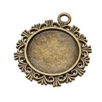 Anhänger/Fassung für Cabochons  20 mm, antik bronzefarben