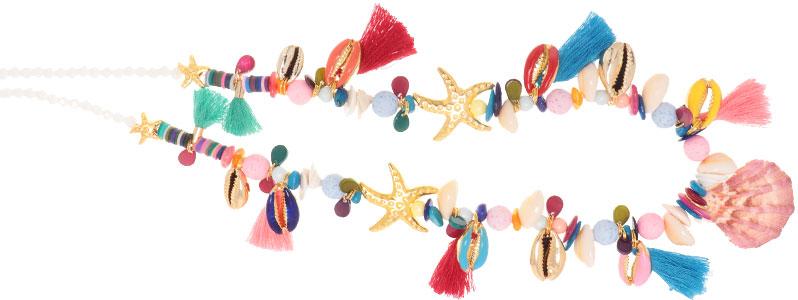 Sommerkette mit bunten Muschelanhängern