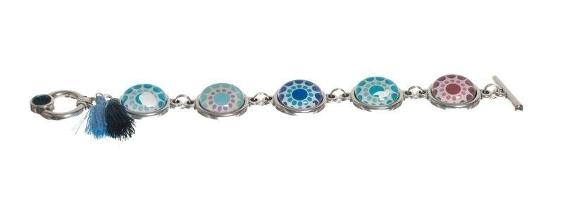 Bohoarmband Silber-Blau