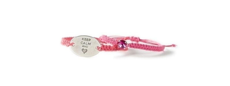 Makrameearmbänder Keep Calm and Heart