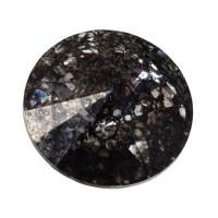 Swarovski Rivoli (1122), SS39  (ca. 8 mm), crystal black patina