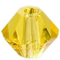 Swarovski Elements Bicone, 4 mm, citrine