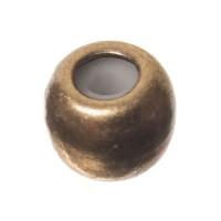 Schiebeverschluss, Kugel, 5 mm, für zwei Bänder mit je 1 mm Durchmesser, bronzefarben