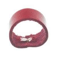 Berlin Lederband Schlaufe, 16 mm x 8 mm, rot