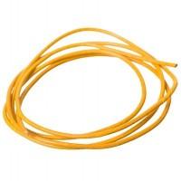 Lederband, 2 mm, Länge 1 m, gelb