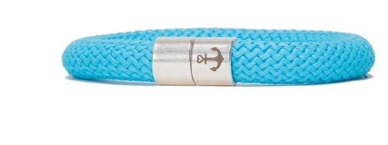Armband mit Segelseil 10 mm und Magnetverschluss himmelblau