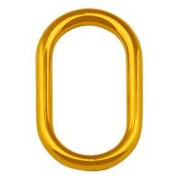 Metallanhänger ovaler Ring, Durchmesser 30 mm, vergoldet