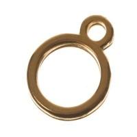 Metallanhänger Kreis, 11 x 8 mm, vergoldet