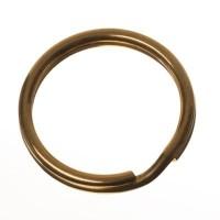 Edelstahl Schlüsselring, Durchmesser 20 mm, goldfarben