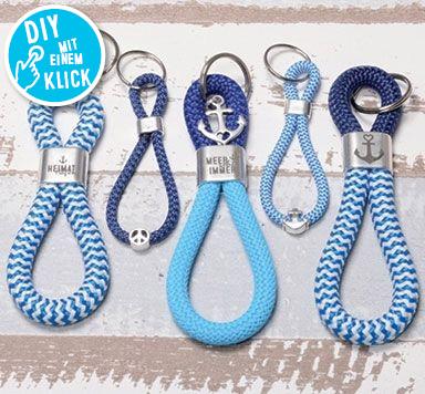 DIY Schlüsselanhänger aus Segelseil mit Zwischenstücken