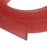 Flaches PVC-Band 10 x 2 mm, rot transparent, 1 m