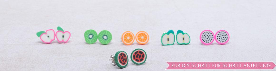 Polymer Clay Cabochons Obst