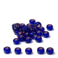 Miyuki Rocailles rund  8/0 (ca. 3 mm), Dark Violet Dyed Silver-Lined, 22 gr.