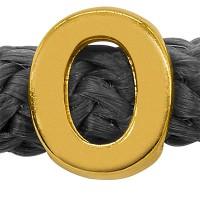 Grip-It Slider Buchstabe O, für Bänder bis 5mm Durchmesser, vergoldet