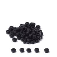 Miyuki Rocailles rund 8/0 (ca. 3 mm), Black Matte, ca. 22 gr