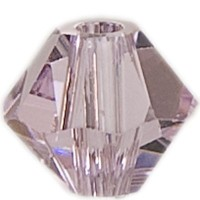 Swarovski Elements Bicone, 6 mm, rosaline