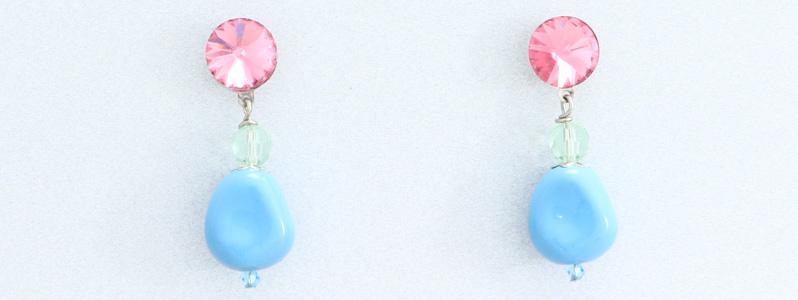 Ohrringe mit Perlen von Preciosa Nacre Elliptic
