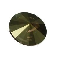 Swarovski Rivoli (1122), SS39 (ca. 8 mm), crystal iridescent green