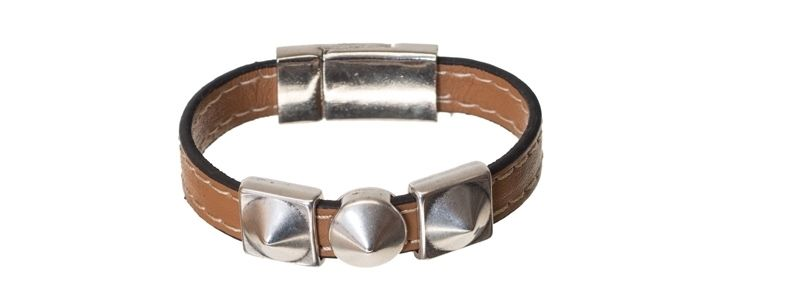 Lederlook Armband Spikes