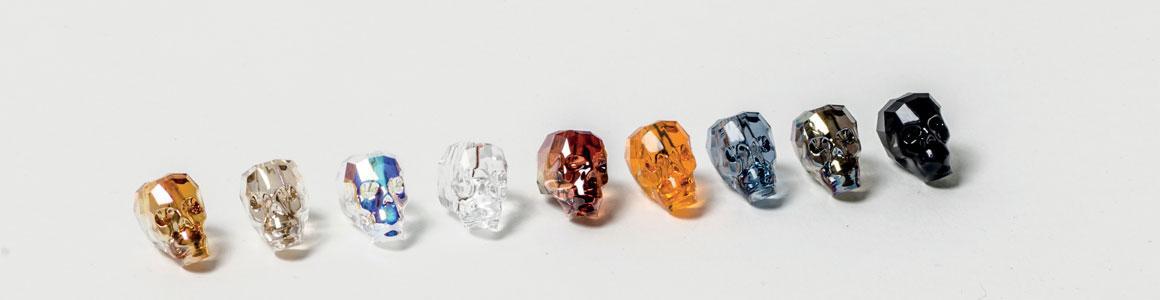 Swarovski Elements Perlen Totenkopf /Skull Bead (5750)