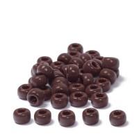 Miyuki Rocailles rund 8/0 (ca. 3 mm), Chocolate Opaque, ca. 22 gr