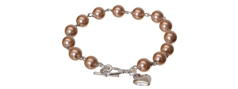 Armband mit Crystal Pearls Rose Gold