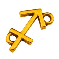 Armbandverbinder Sternzeichen Schütze, 13,5 x 8,5 mm, vergoldet
